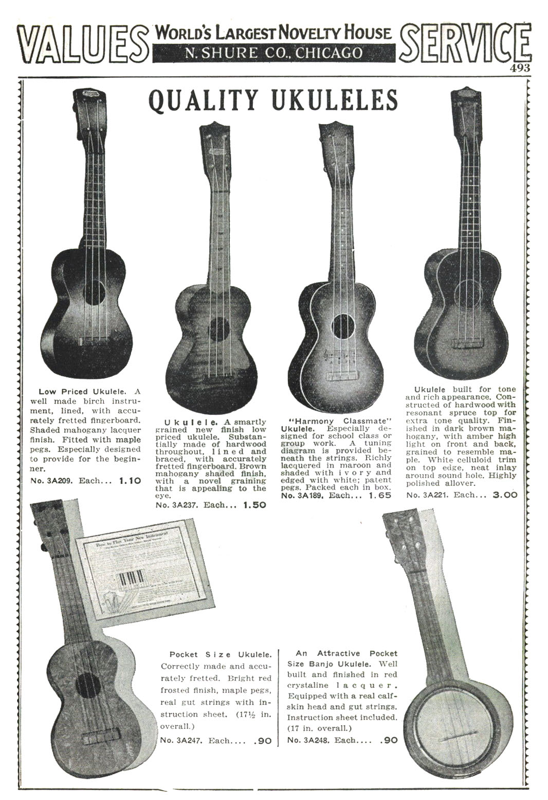 Piccolo place piccolo banjos and other small banjos 1937 shure pocket size ukuleles pooptronica